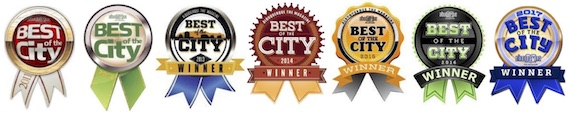 Best of the City Badges