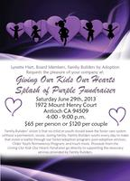 Giving Our Kids Our Hearts, Splash of Purple Fundraiser