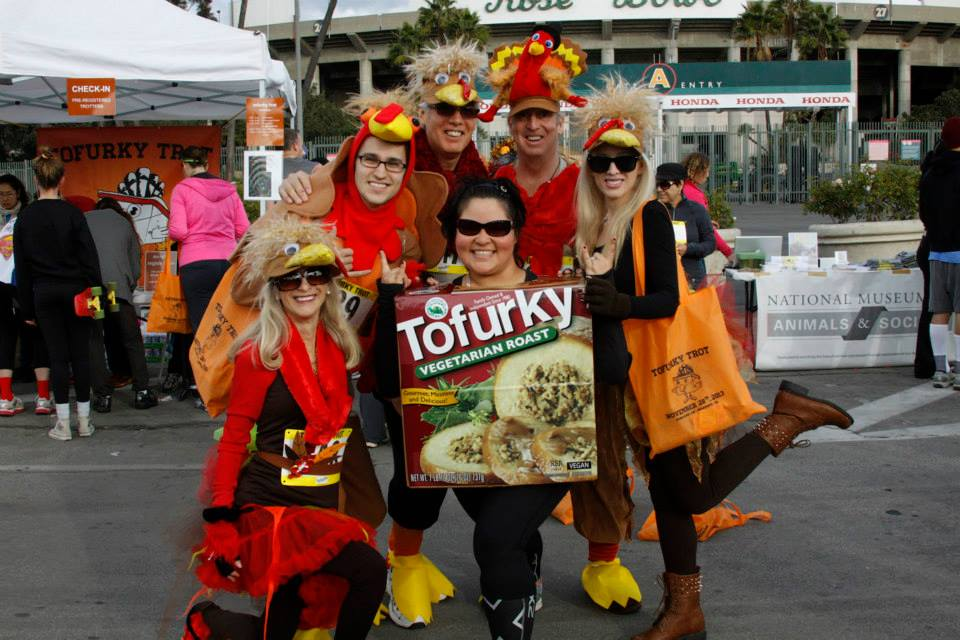 tofurky trot costumed runners