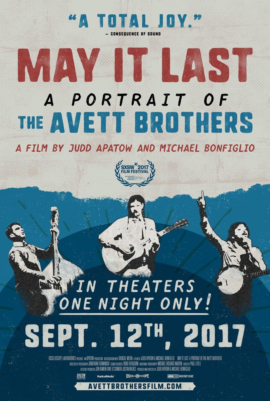 Avett Brothers - May It Last Poster September 12, 2017