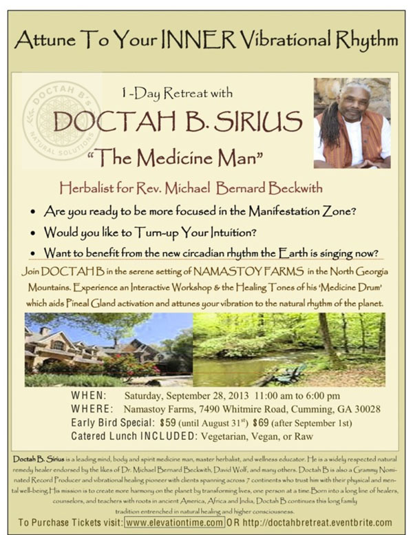 Doctah B RETREAT flyer
