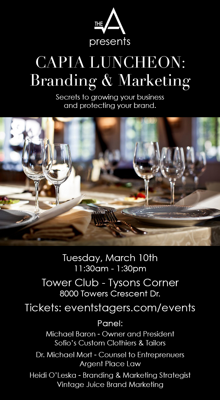 CAPIA Luncheon, March 10th from 11:30 - 1:30, Tower Club - Tysons Corner