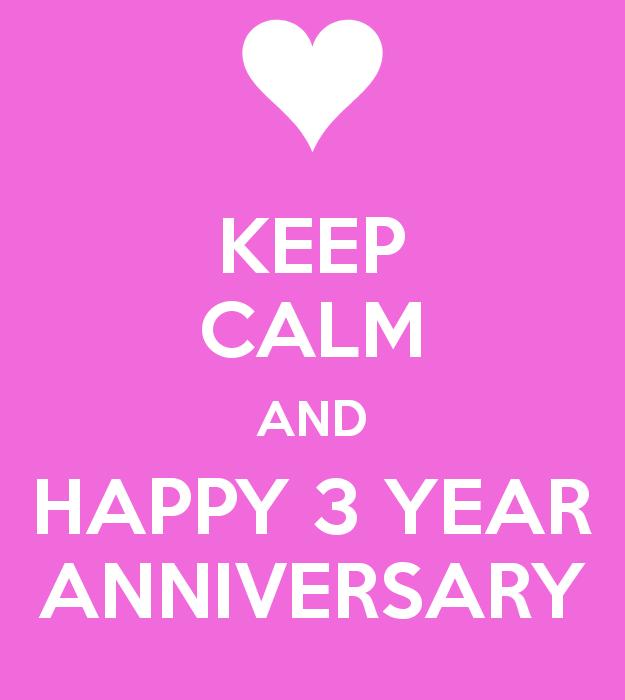 3 year dating anniversary