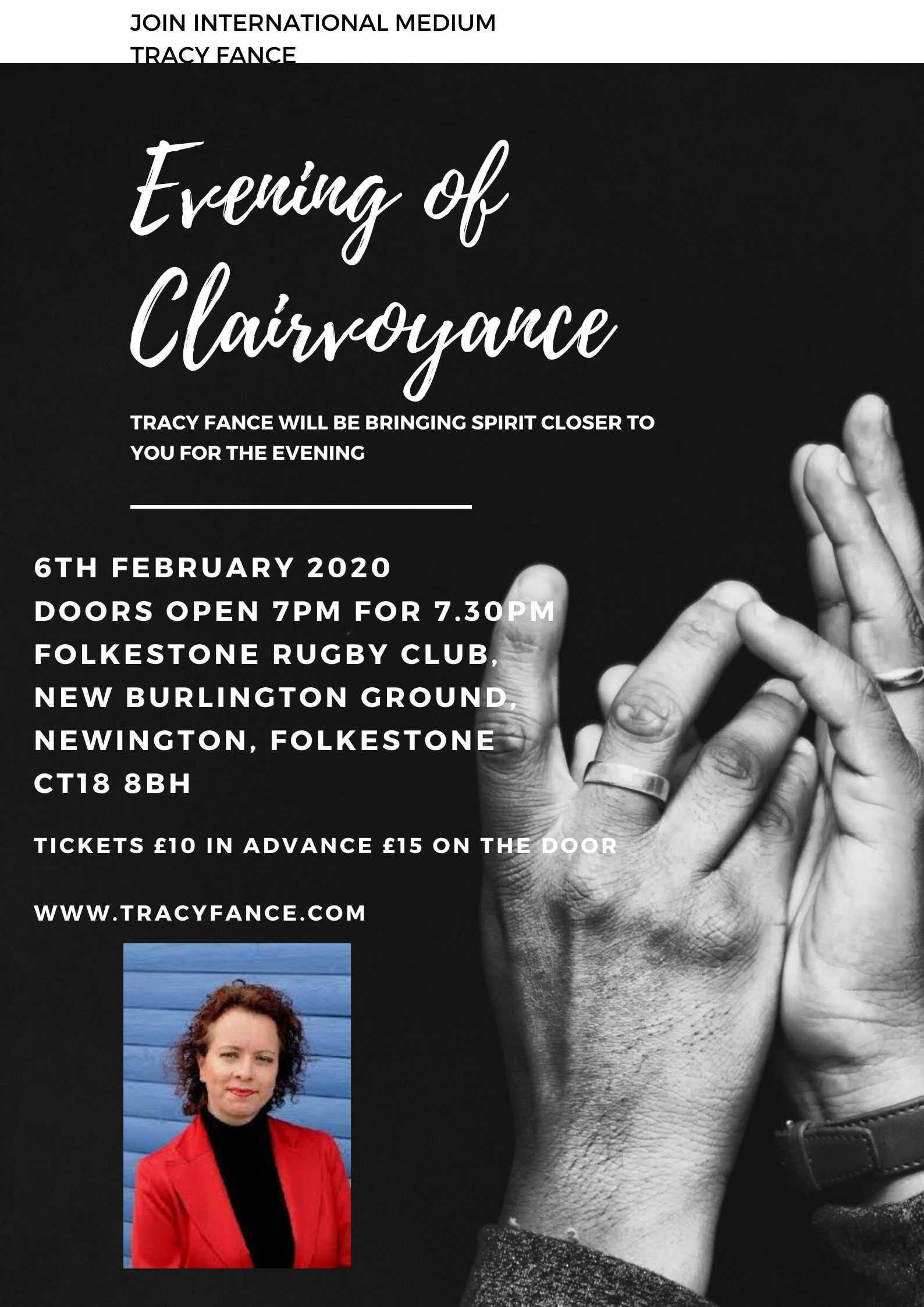 Evening of Clairvoyance with Tracy Fance Poster