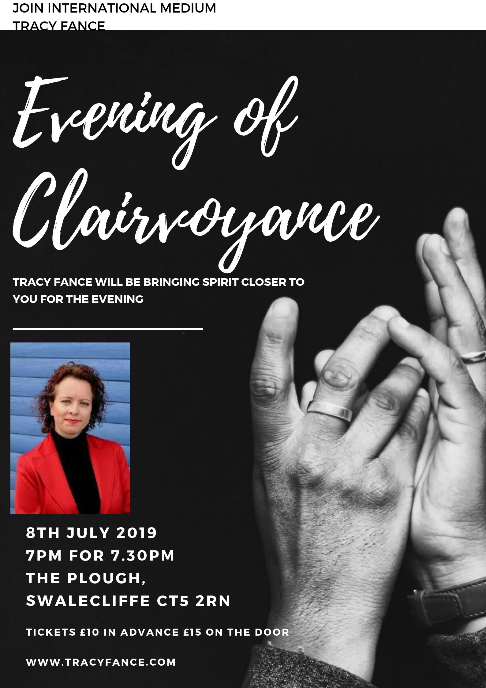 Evening of Clairvoyance with Tracy Fance
