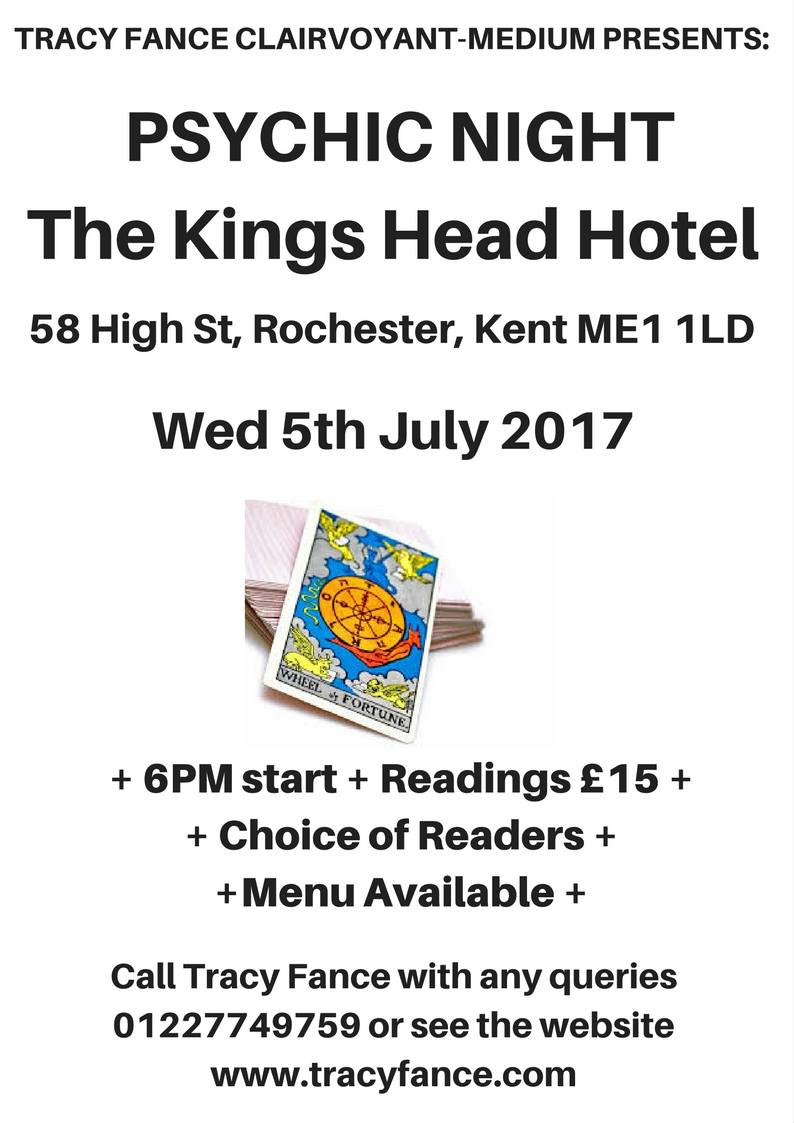 psychic night - the kings head - 5th july 2017 tickets, wed, 5 jul