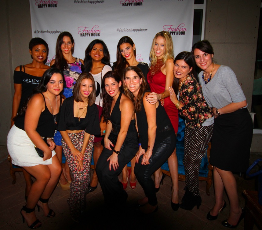 Miami bloggers and models at Fashion Happy Hour