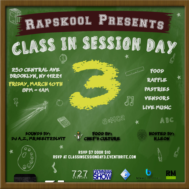 Class in Session Day 3 Flyer
