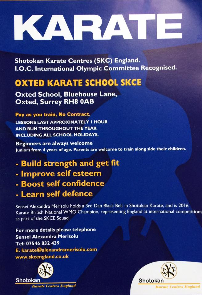 Karate Classes SKCE in Oxted, Surrey