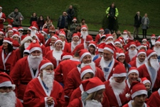 Santa's getting ready for the start