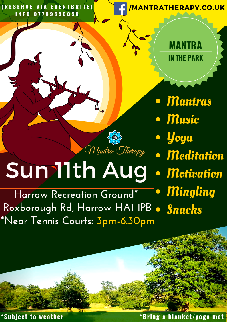 Mantra Therapy Outdoor Summer Fun In The Park