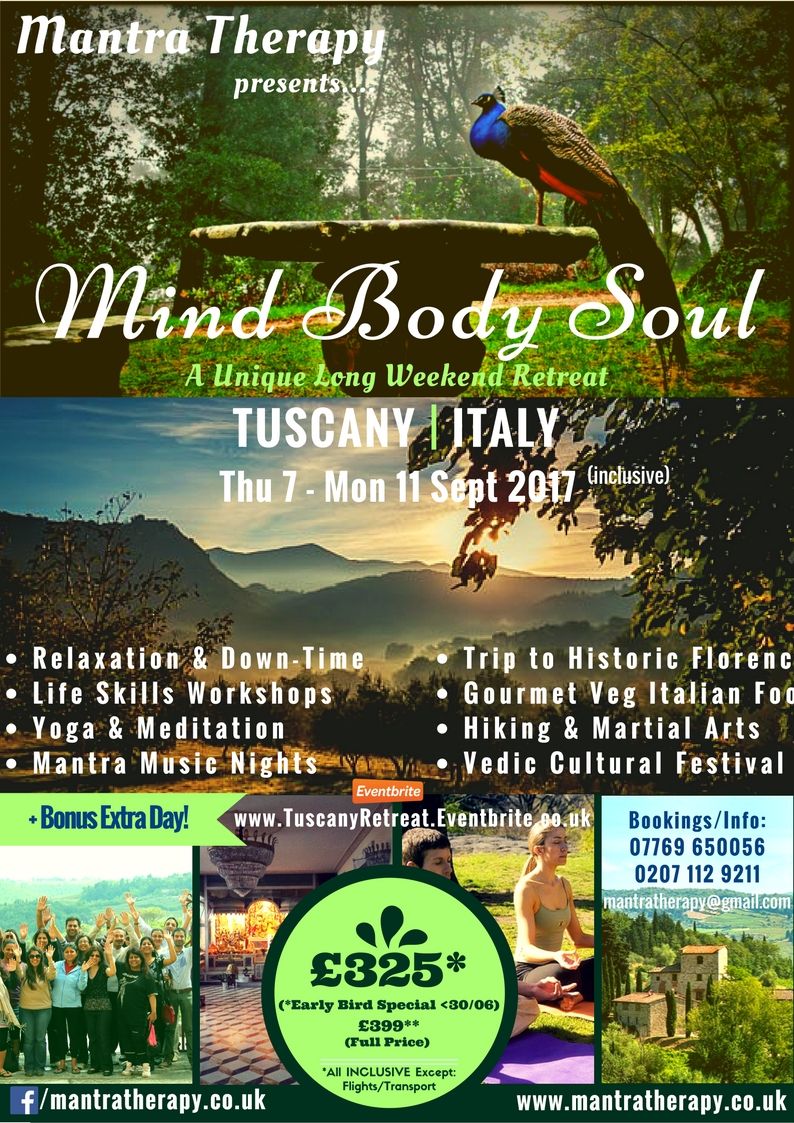 Mantra Therapy Tuscany 2017 Retreat