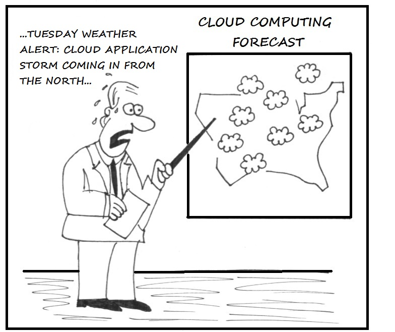 Cloud Invite Cartoon