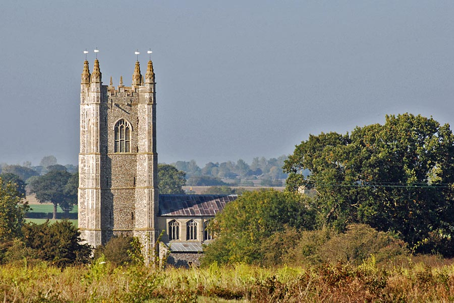 Redenhall church tower