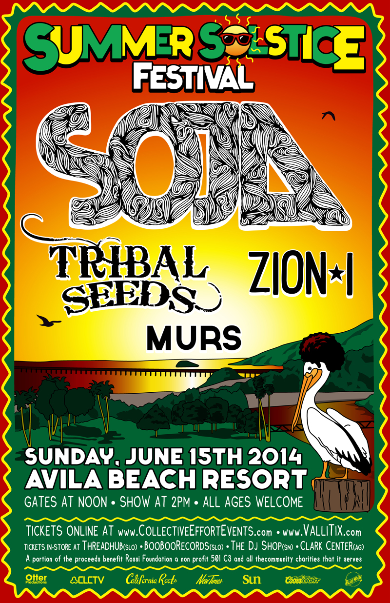 Summer Solstice Festival 2014 • SOJA • Tribal Seeds • Zion I • MURS