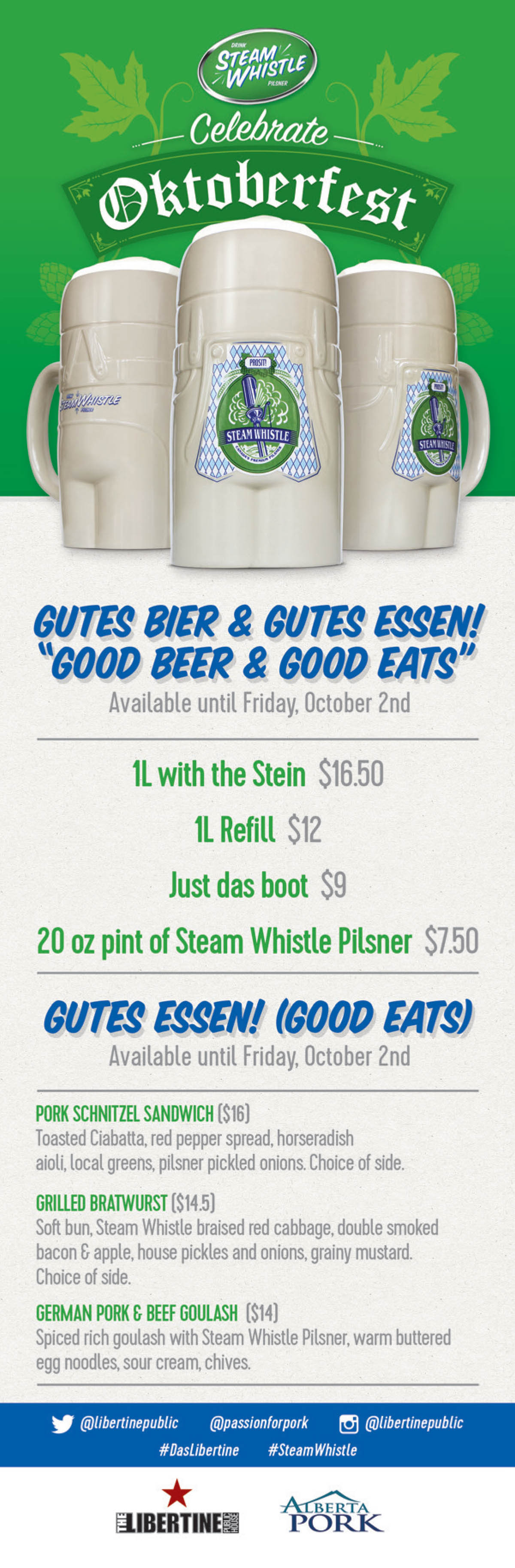 Steam Whistle Stein & Sausage Party, calgary, downtown