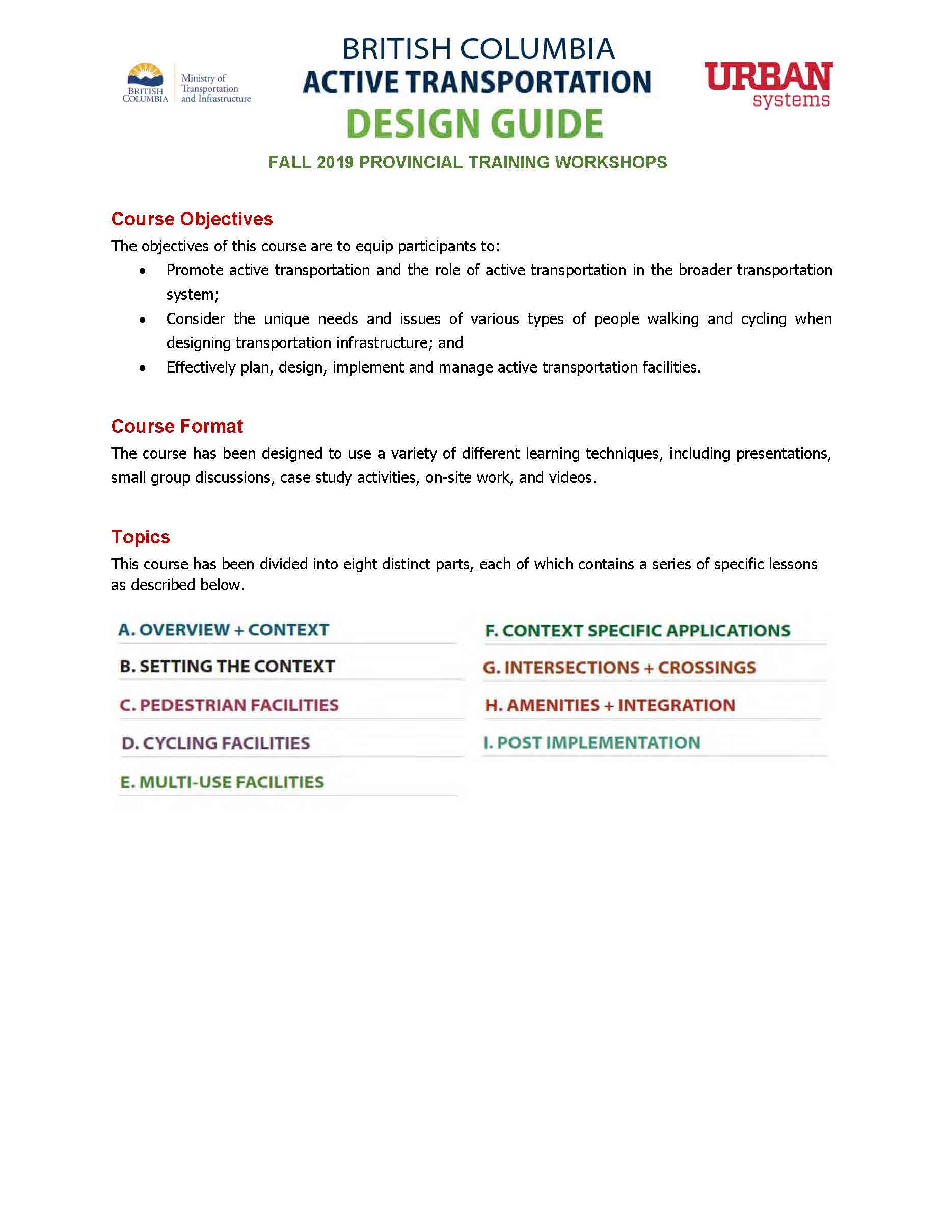 Course Outline - Page 2