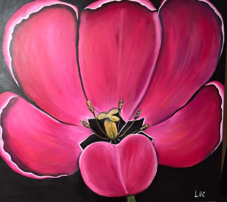 Lucy Mathers art - flower
