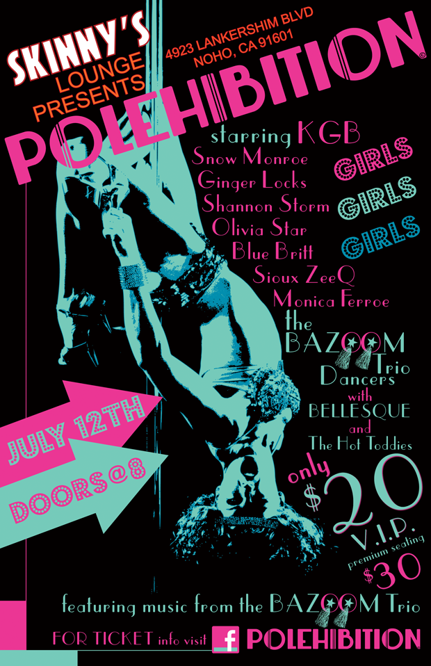 POLEHIBITION Premiere Show Poster @ Skinny's Lounge