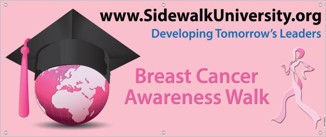SU Breast Cancer Awareness Walk Banner