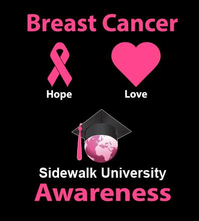 Sidewalk University Breast Cancer Awareness T-Shirt