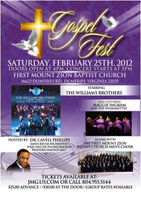 gospel fest the williams brothers (dumfries) tickets
