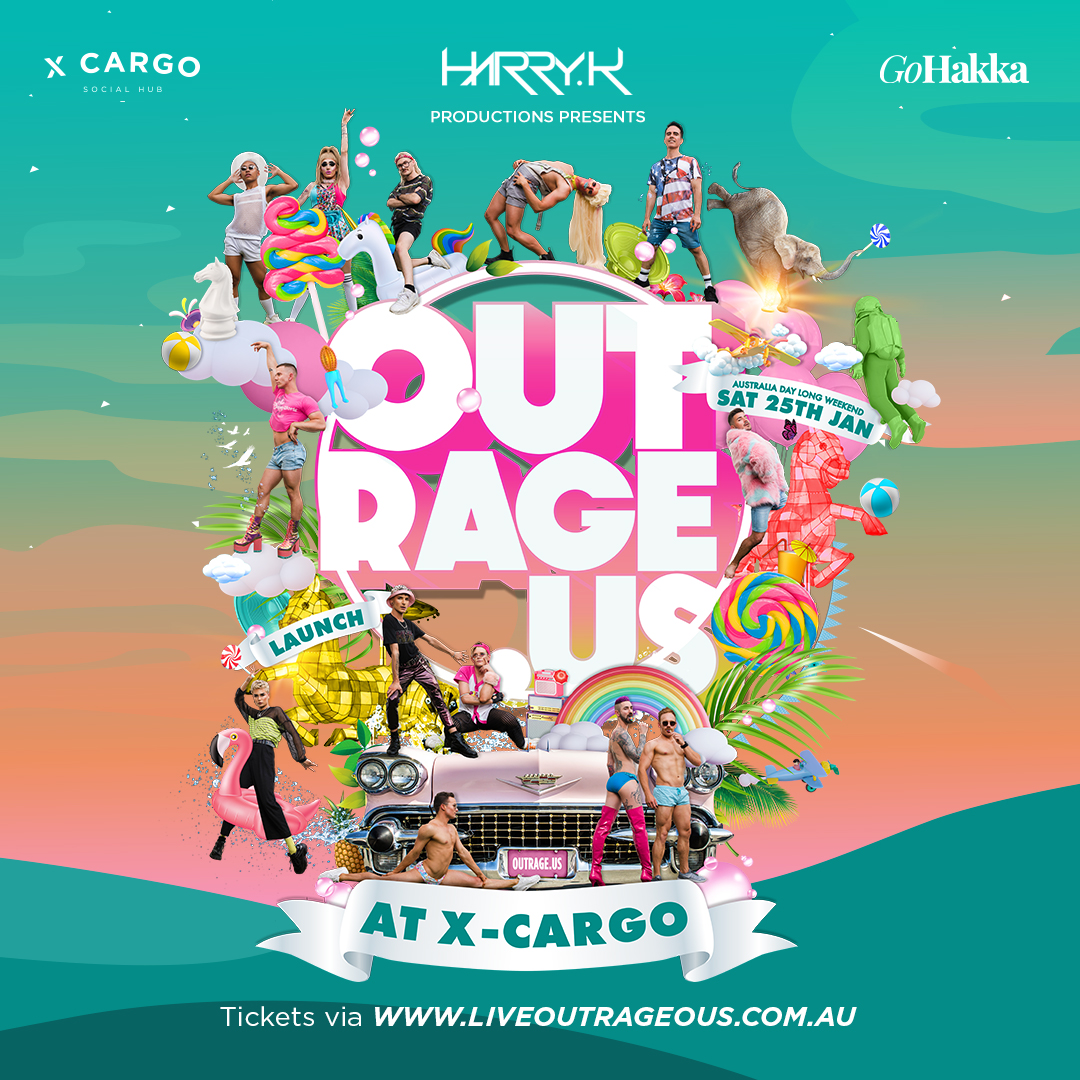 OUTRAGEOUS Launch at X-Cargo Saturday 25th January 2020 From 1pm till 9pm