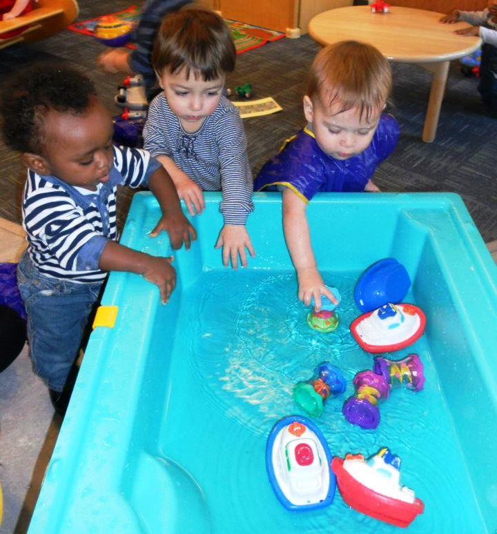 Infants at water table