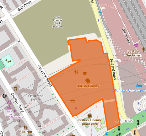 British Library Map - from OpenStreetMap