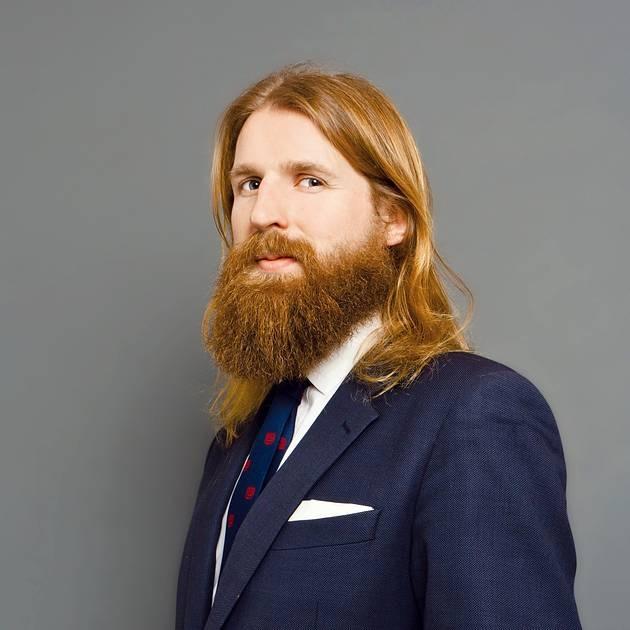 Sanderson and his beard