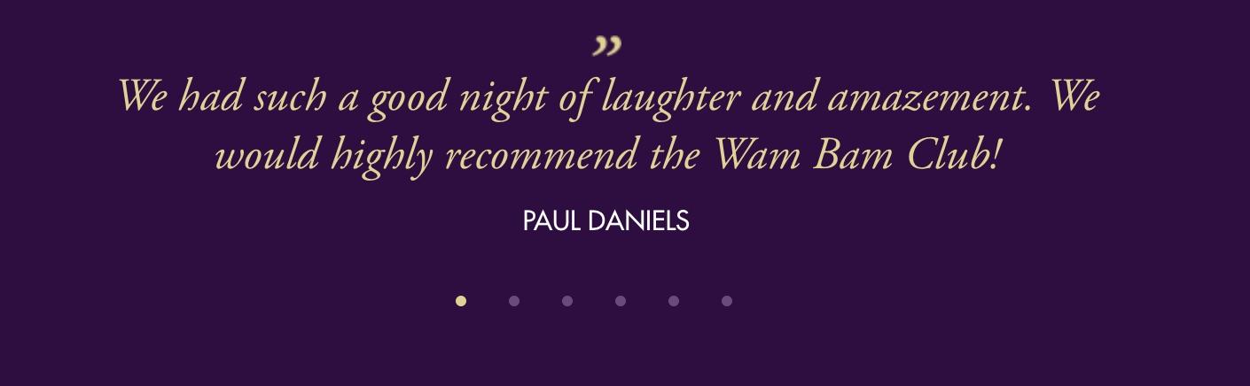 Wam Bam Club | Paul Daniels Review