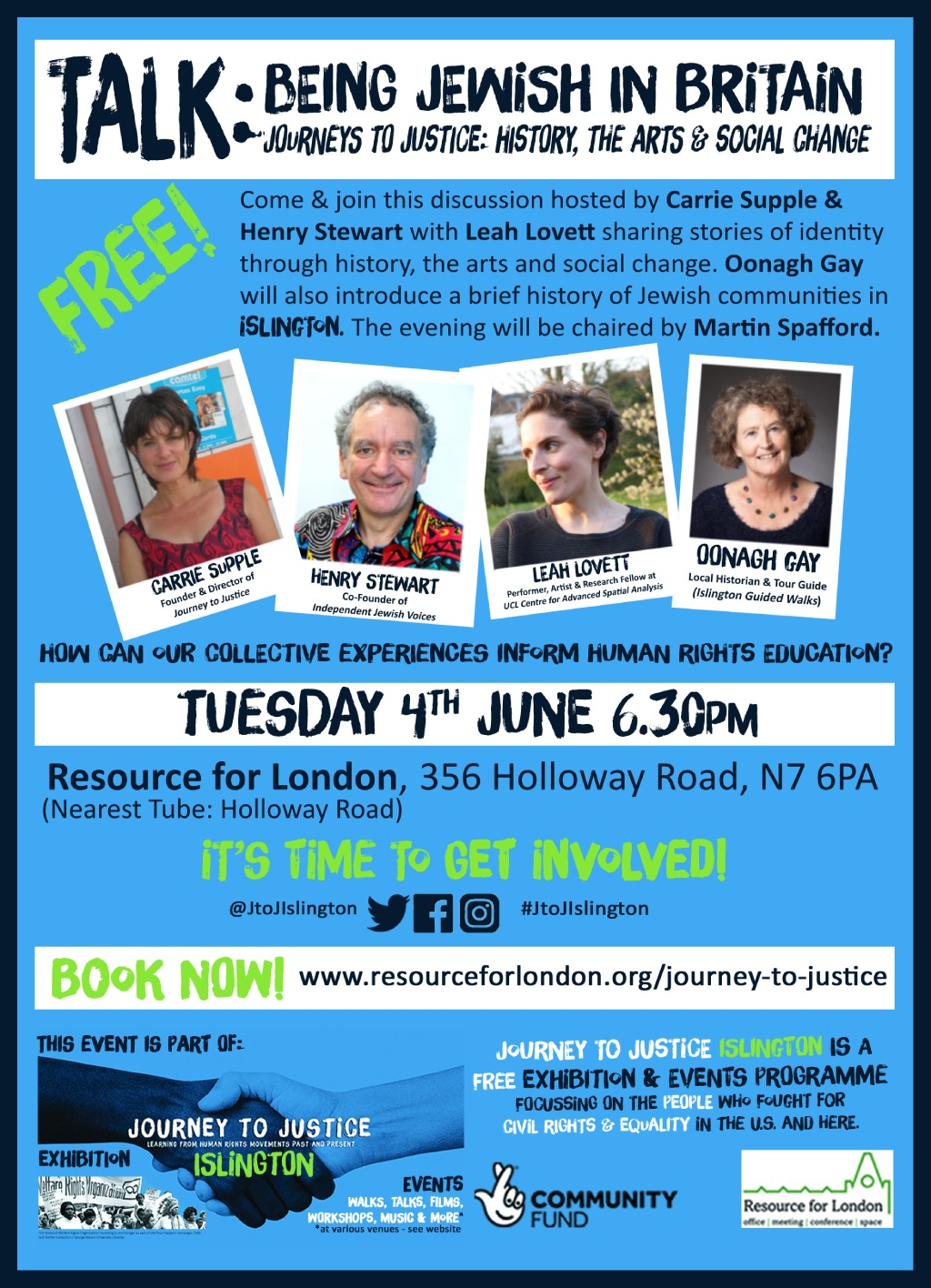 Being Jewish in Britain e-flyer for 4th June event