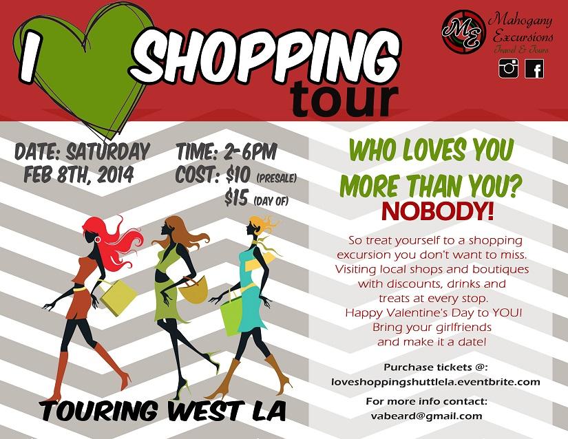 Valentine's Day Shopping Shuttle flier