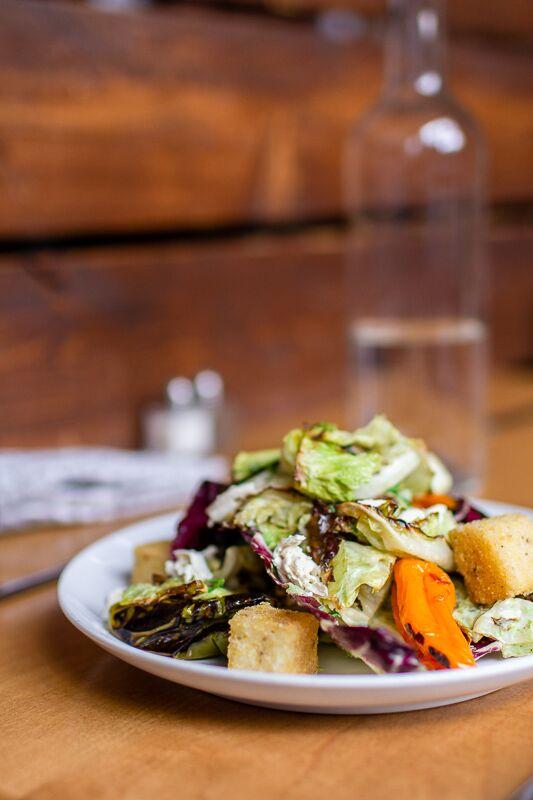 Duo's Vegan Caesar Salad