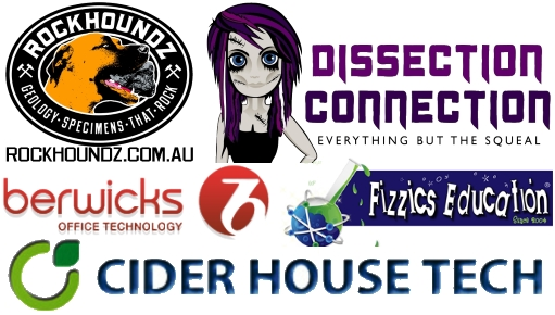 science conference in mackay featuring dissection connection, rockhoundz. cider house tech, fizzics education and berwicks office technology