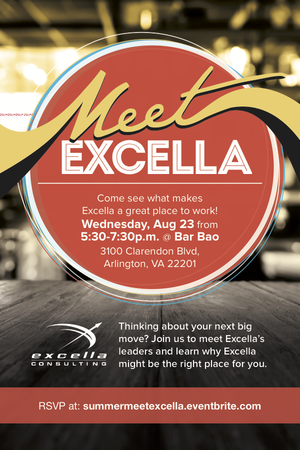 Meet Excella August 2017 Invitation