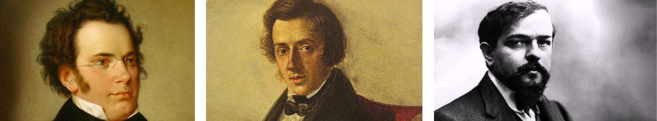Brahms, Chopin, Debussy