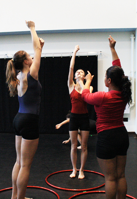 APA Students rehearsing Cercle d'Amour