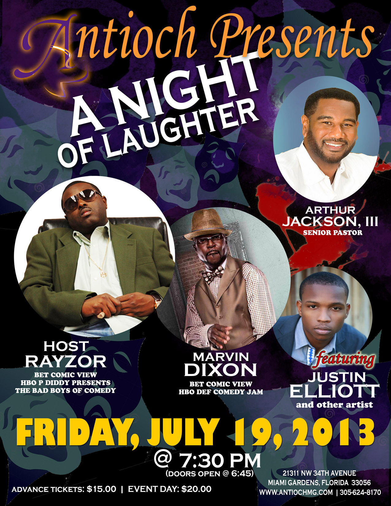 A Night Of Laughter Tickets Fri Jul 19 2013 At 7 30 Pm Eventbrite