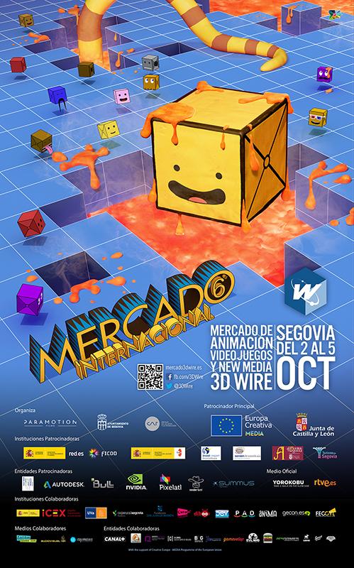 Cartel Mercado 3D Wire 2014