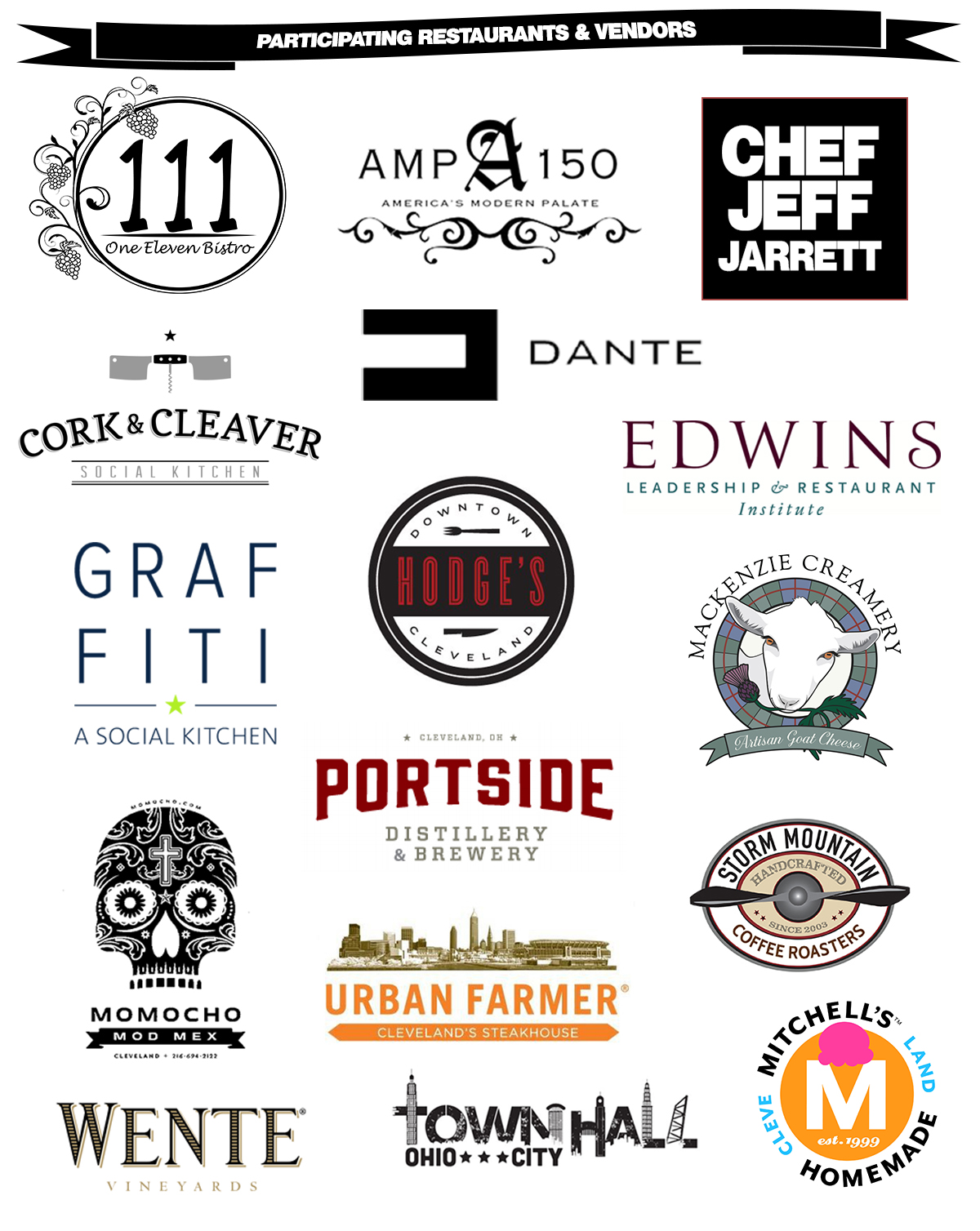 Veggie U Food and Wine Celebration Participating Restaurants
