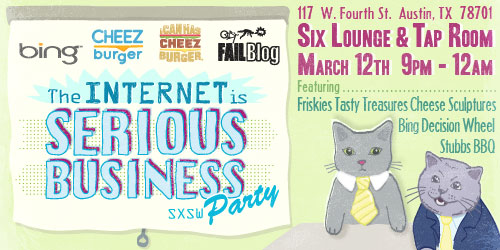 The Internet Is Serious Business Party Invite