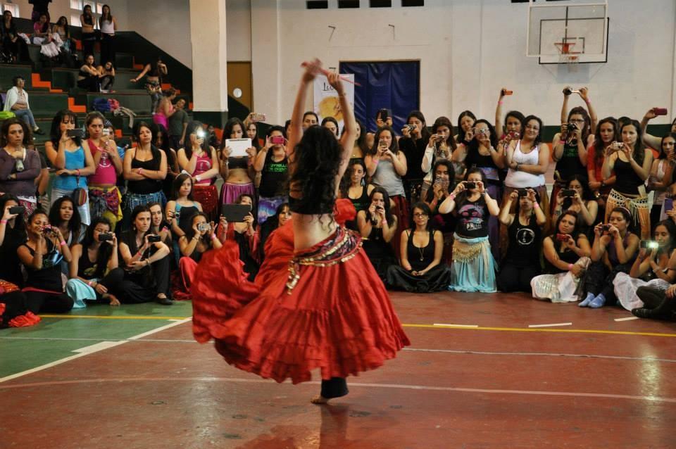 Zizi teaching in South America