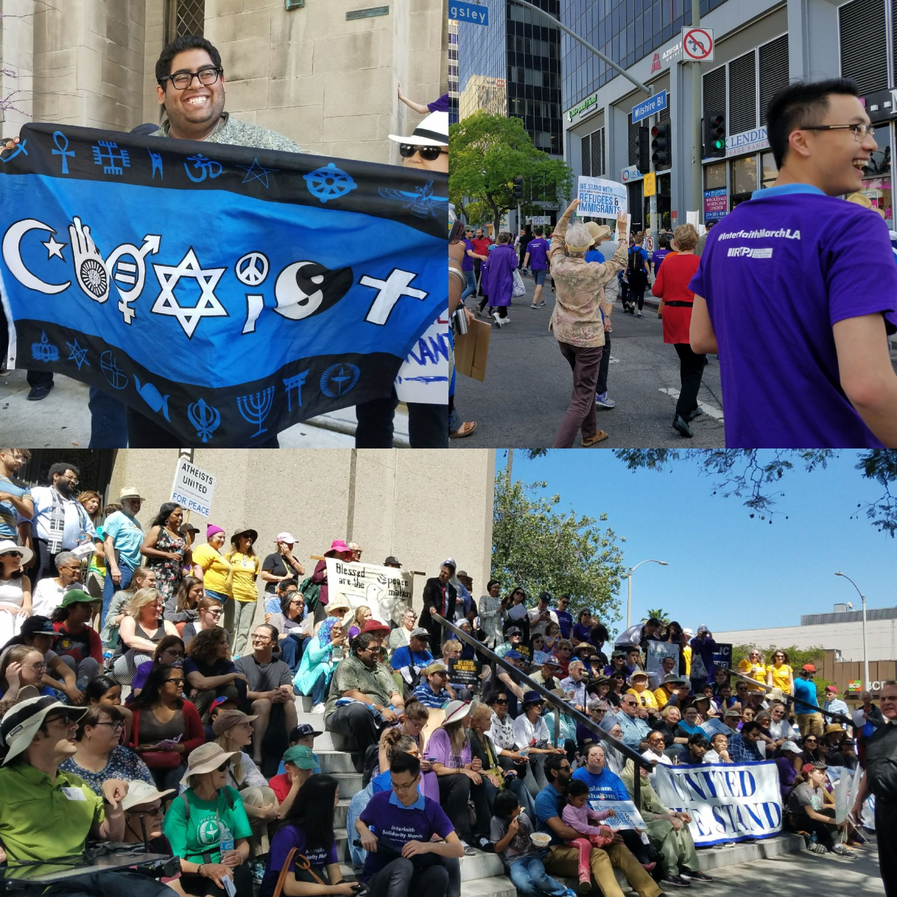 Interfaith March collage