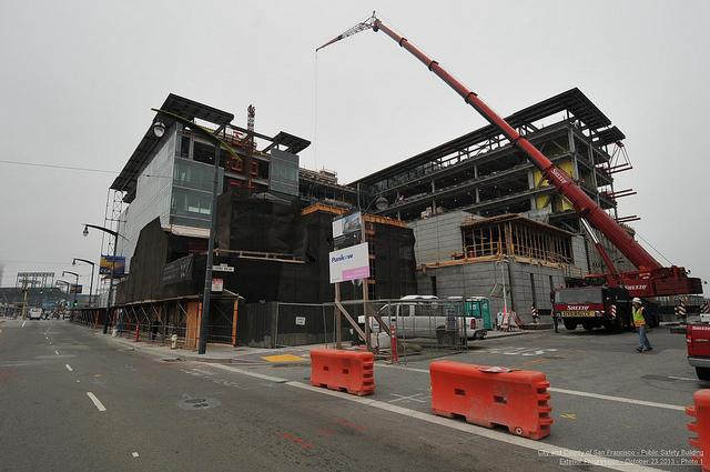 Public Safety Buildign under construction