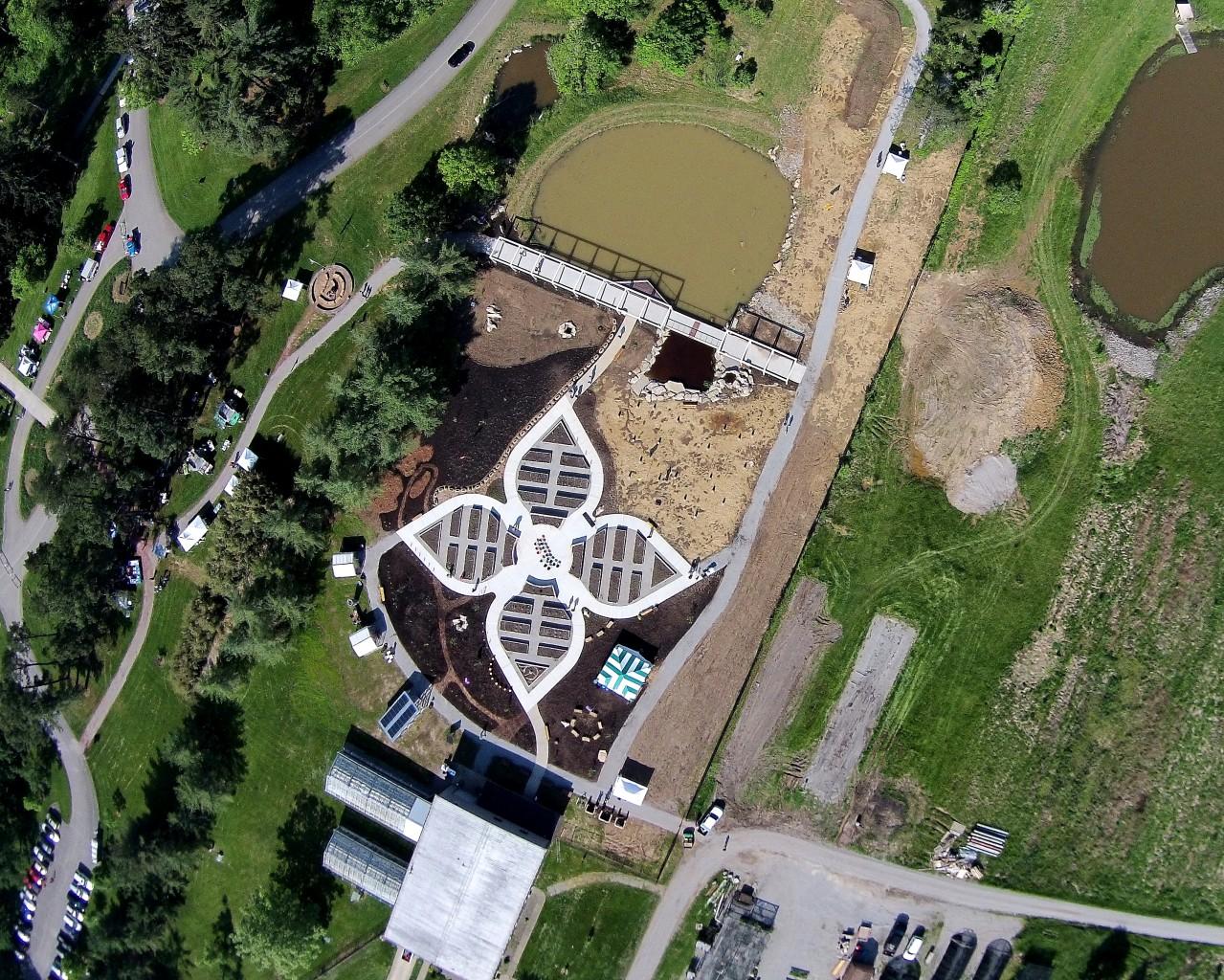 Overhead view of Edible Garden
