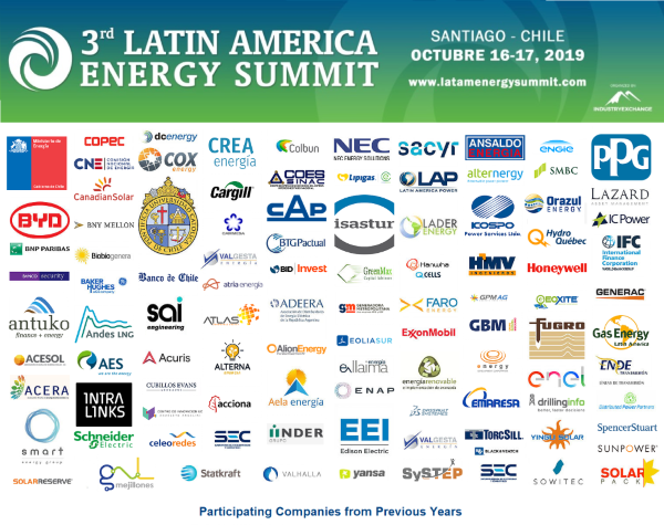 Latin America Energy Summit - Santiago, Chile - October 16-17, 2019