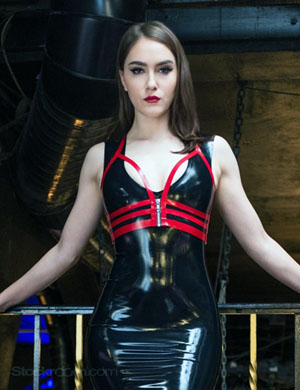 Beautiful Mistress in Latex