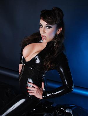 Beautiful Mistress in Latex