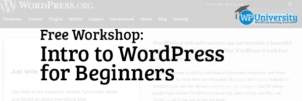 Free Workshop: Intro to WordPress for Beginners